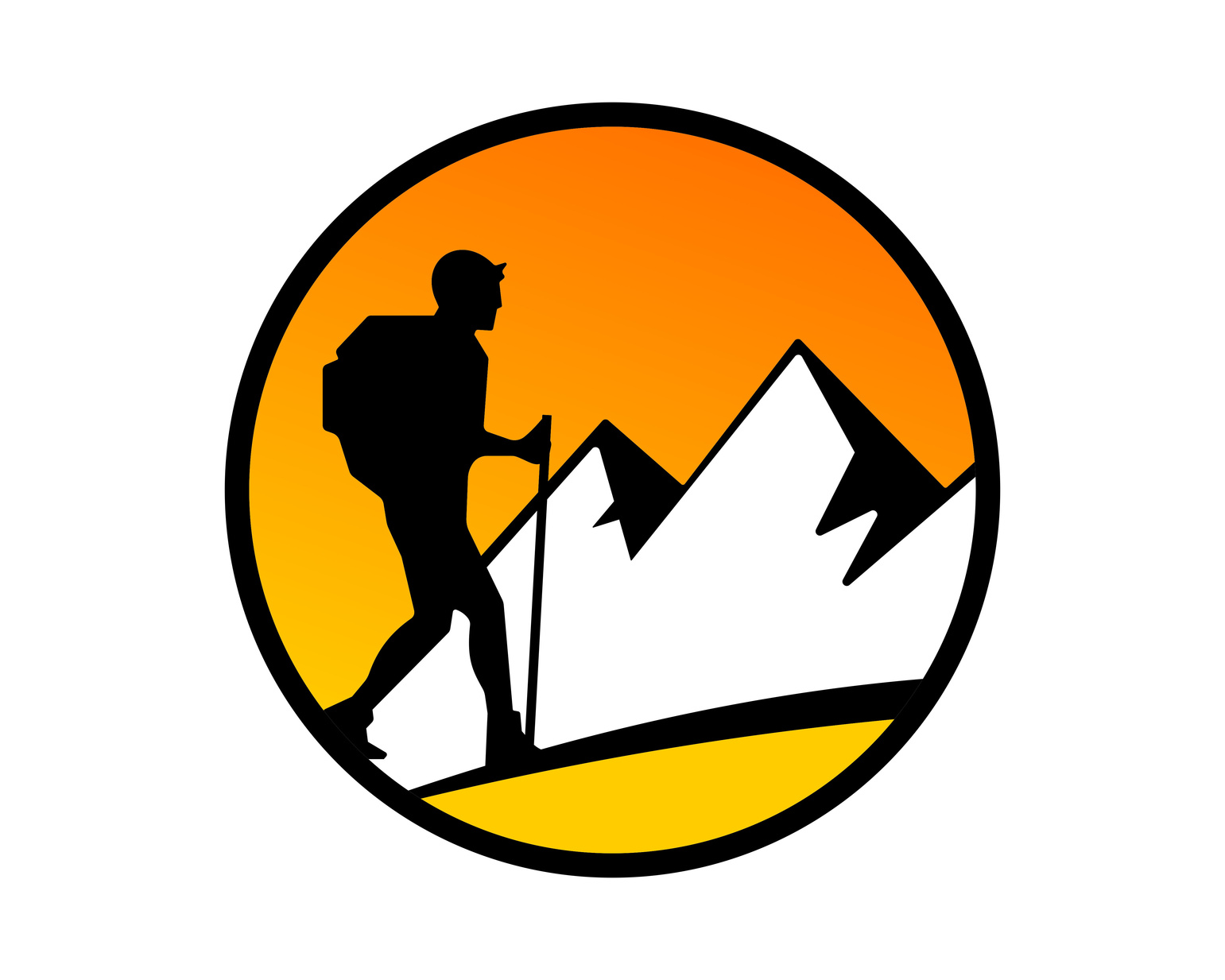 hiking logo design