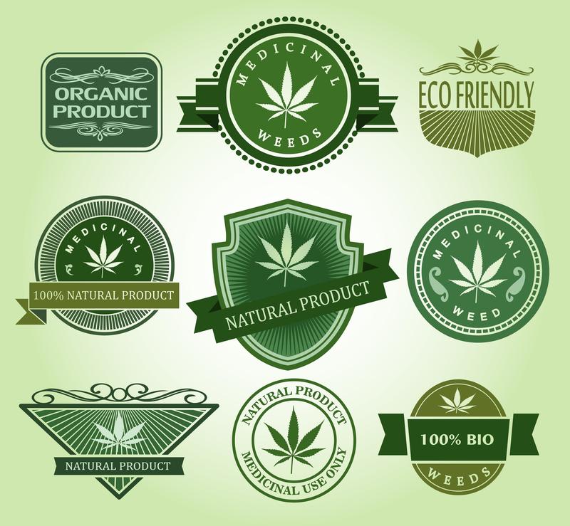 weed leaf logo