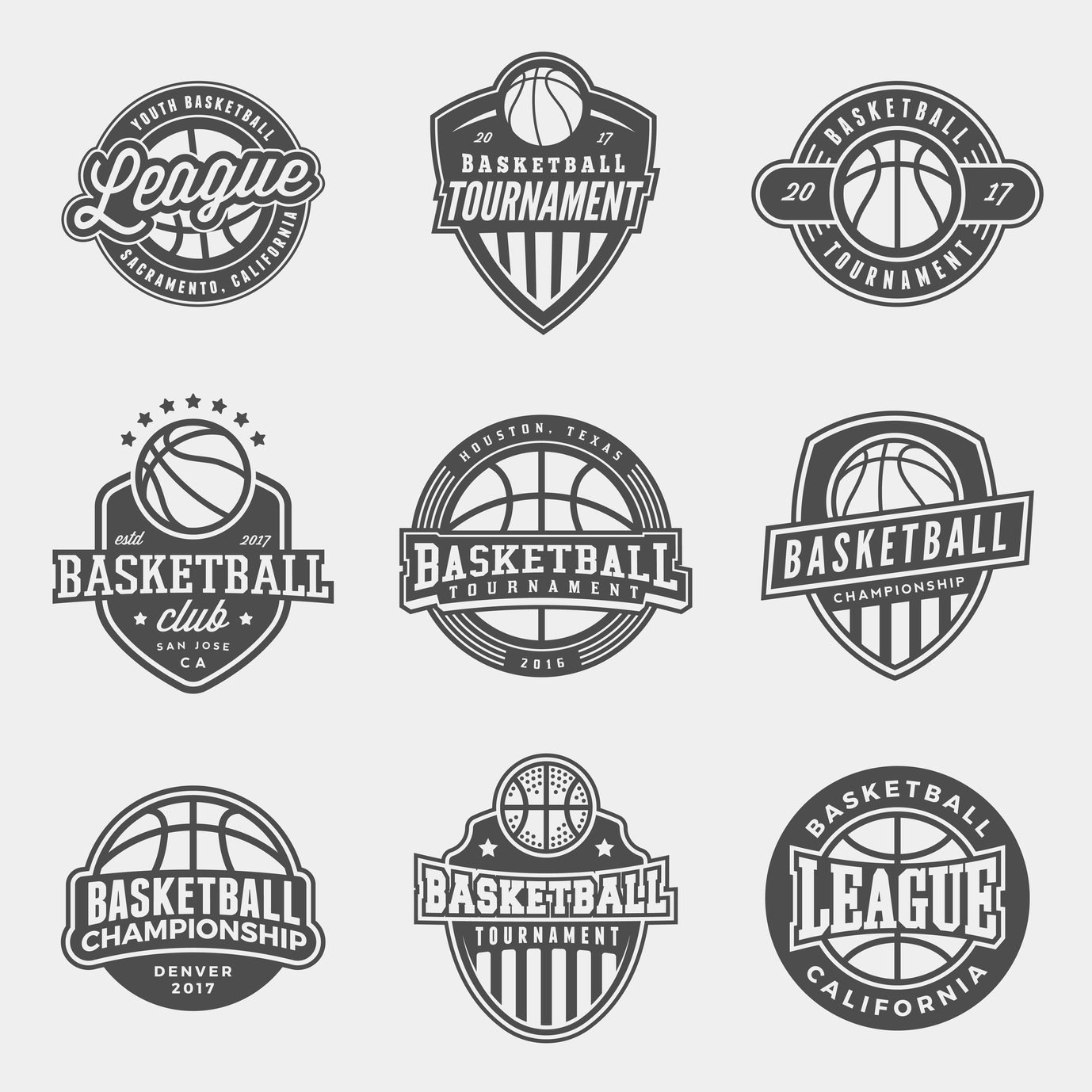 basketball logo design black and white best logo 2018. Black Bedroom Furniture Sets. Home Design Ideas