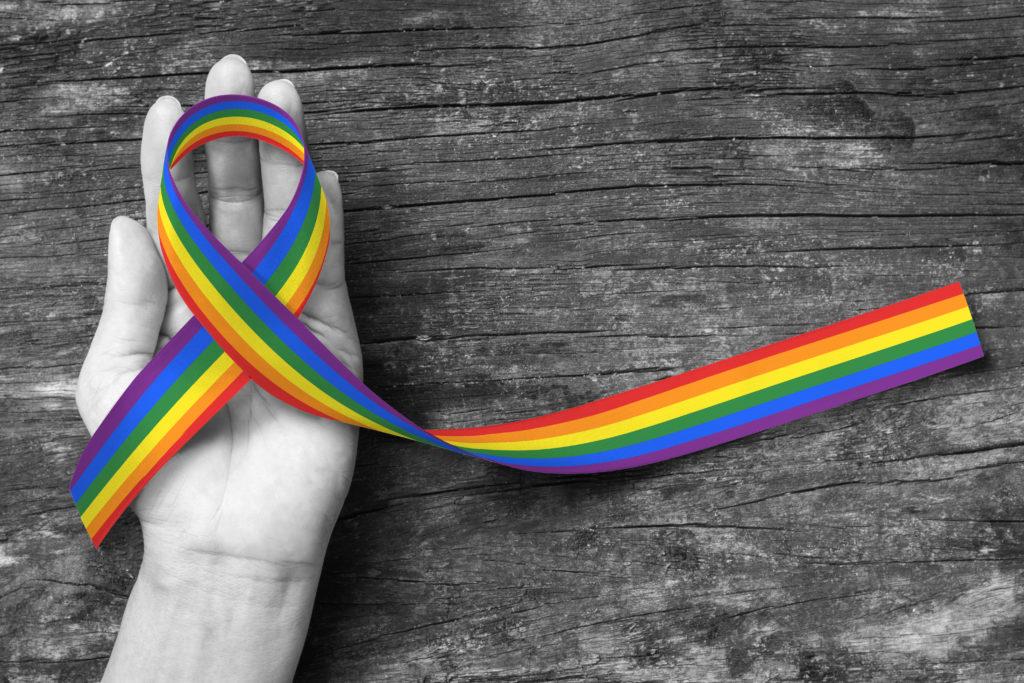 Rainbow love is love gay pride lgbtq beautiful black ink pen
