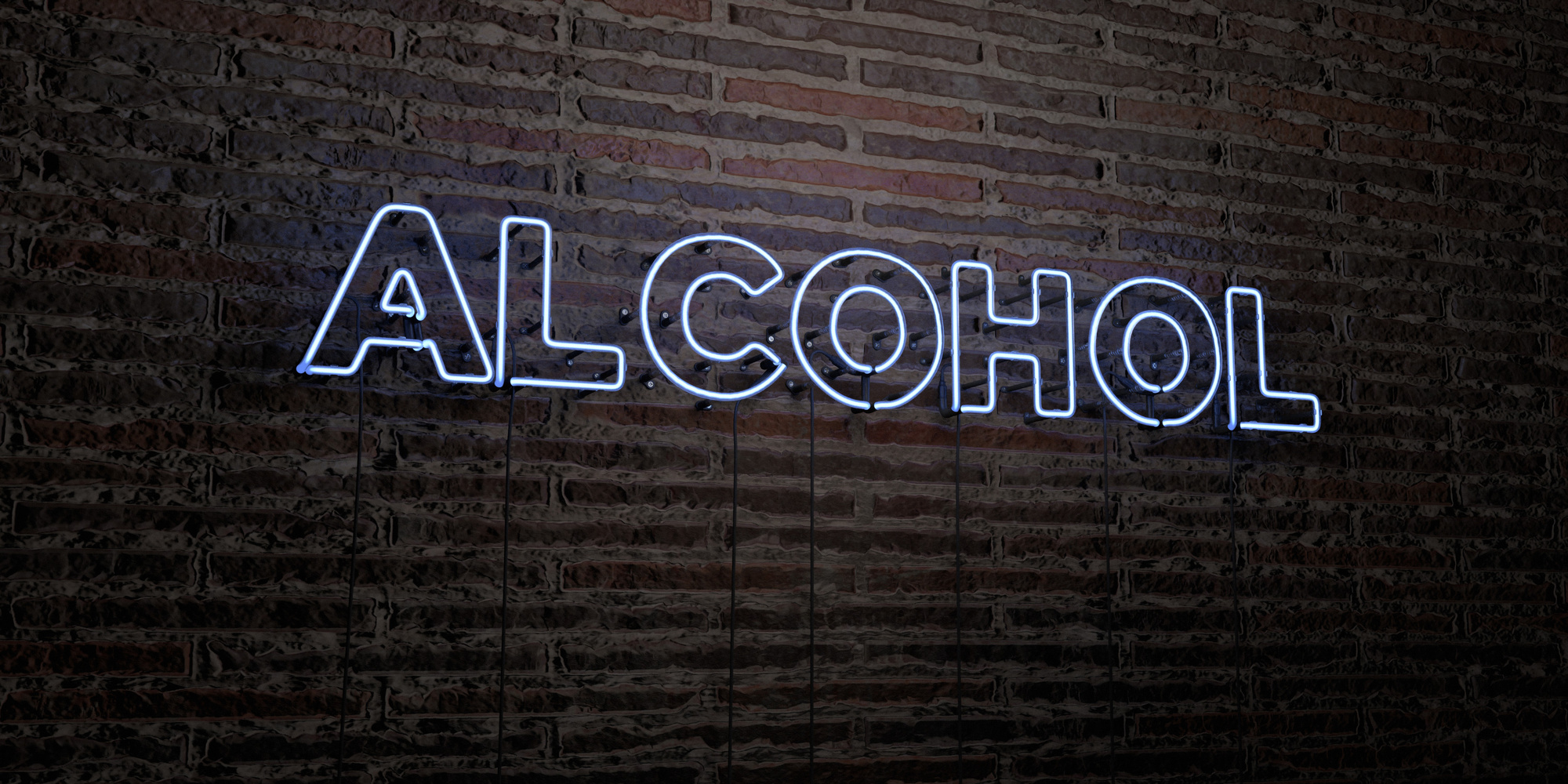 neon alcohol sign