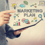 marketing plan text and icons
