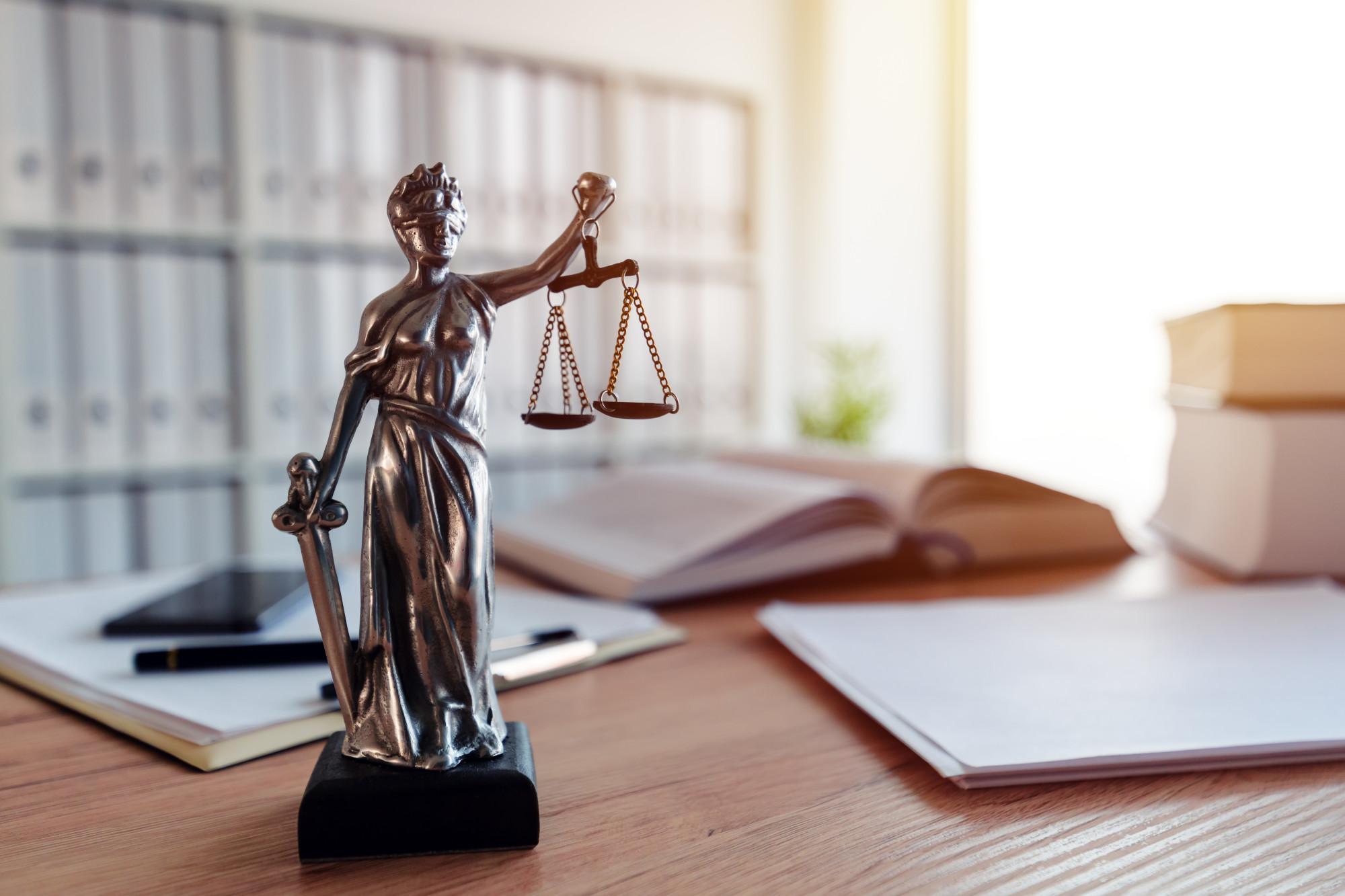 desk in law firm