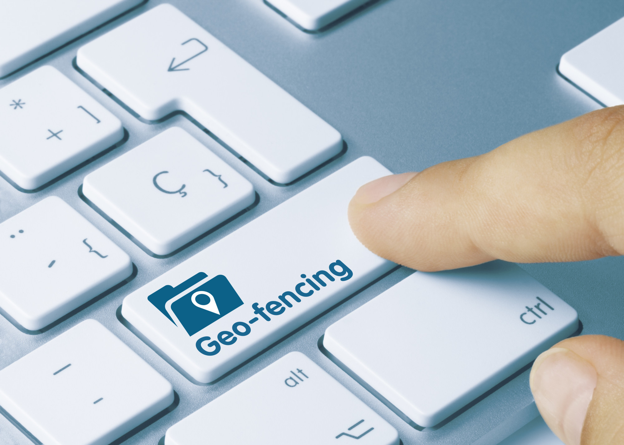 geofencing button on keyboard