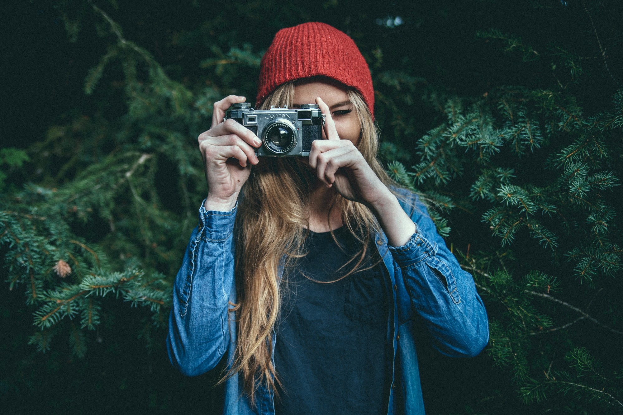 female photographer with camera