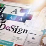 Design layout on desk